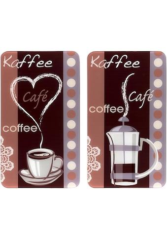 WENKO Herd-Abdeckplatte »Kaffeeduft«, (Set, 2 tlg.), Spezialfüße kaufen