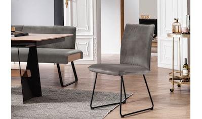 K+W Komfort & Wohnen Kufenstuhl »Deseo II«, Stuhl mit Rundrohrkufe in Metall schwarz Struktur kaufen