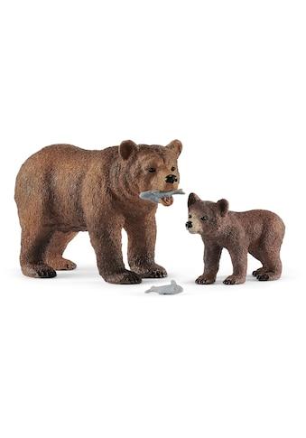 Schleich® Spielfigur »Wild Life, Grizzlybär-Mutter mit Jungem (42473)« kaufen