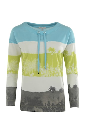 Hajo Sweatshirt, mit Palmenprint kaufen