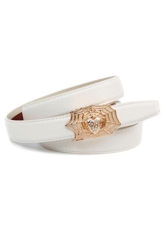 Anthoni Crown Ledergürtel, Femininer Ledergürtel, Schließe mit Spinnennetz kaufen