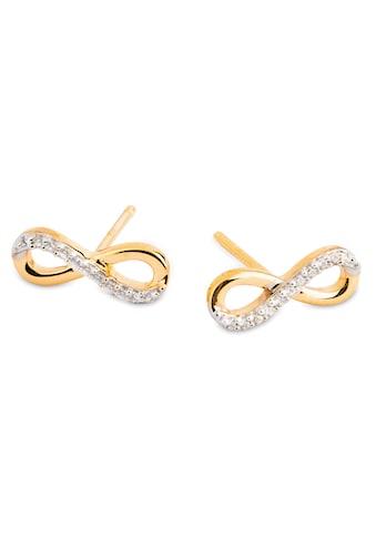 NANA KAY Paar Ohrstecker »Gold, Infinity/Unendlichkeitsschleife, FG054«, mit Zirkonia... kaufen