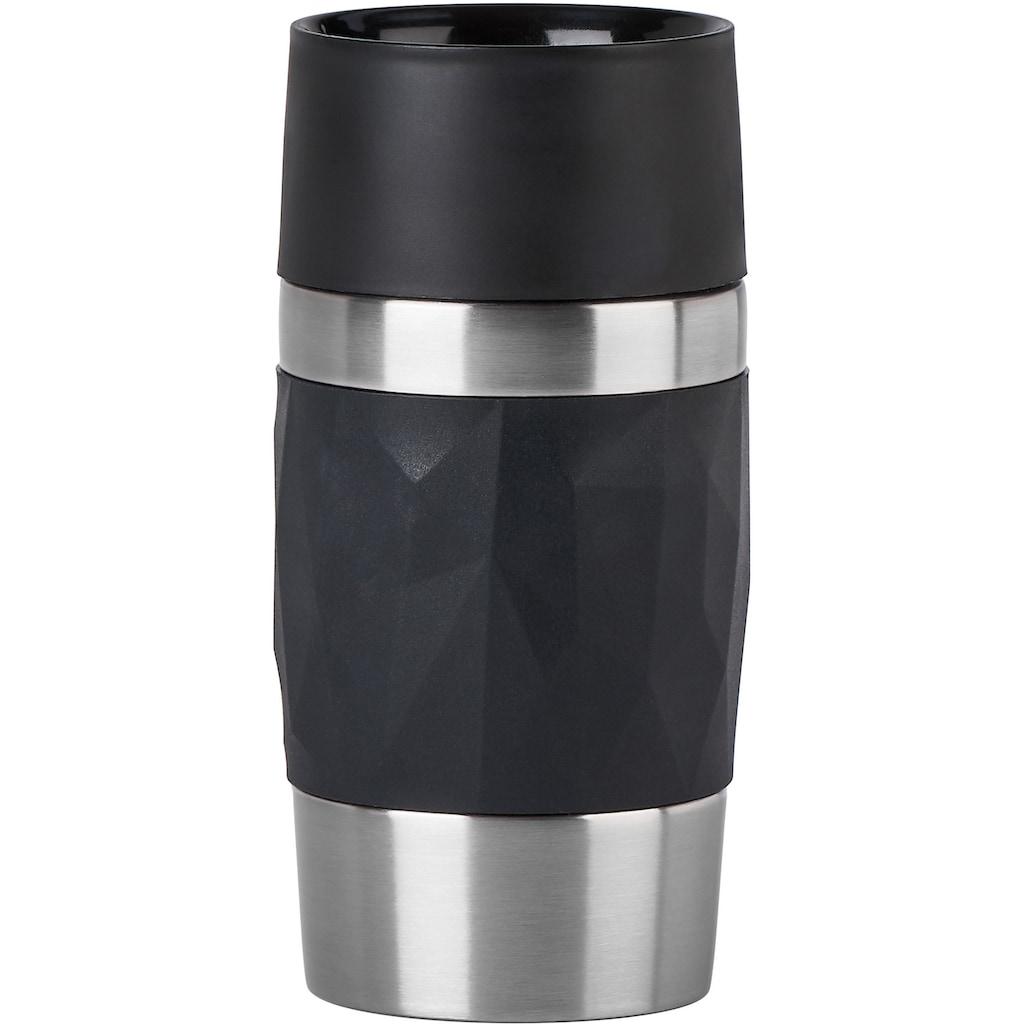 Emsa Thermobecher »Travel Mug Compact«, Edelstahl, 300 ml Inhalt, auslaufsicher, 3h heiß 6h kalt, 360°-Rundum-Trinköffnung, spülmaschinenfest