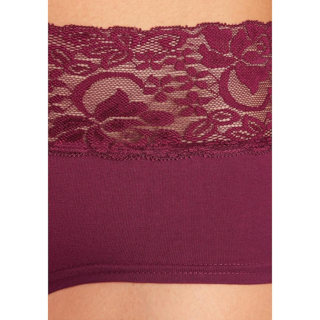 vivance active Panty, (3 St.), mit breitem Spitzenbündchen