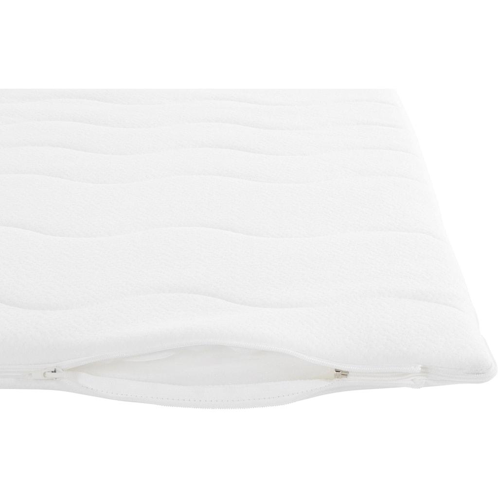 Breckle Boxspringbett, mit ausziehbarem Regal, Topper und Bettkasten