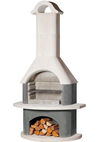 BUSCHBECK Grillkamin »Athen«, B/T/H: 110/65/210 cm, weiß/anthrazit kaufen