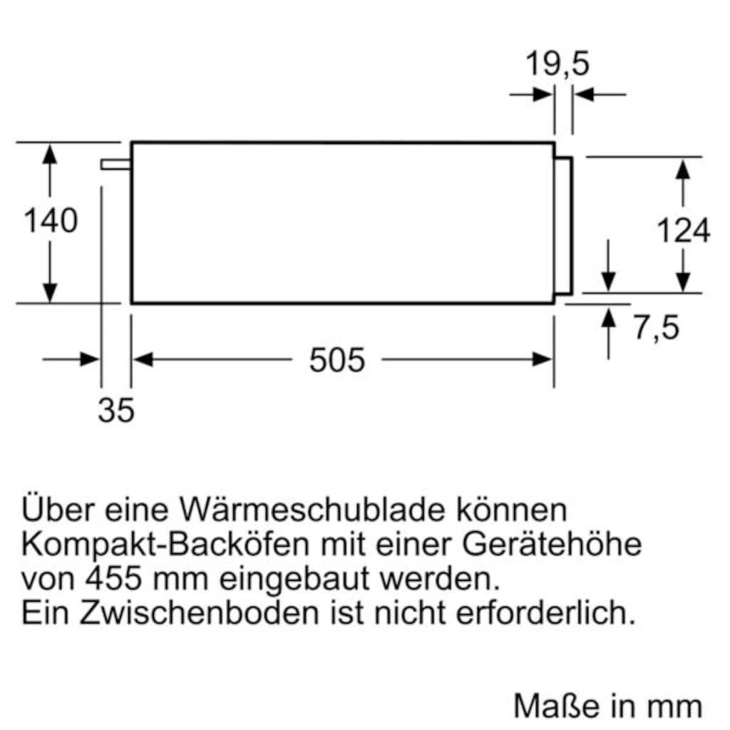 SIEMENS Einbau-Wärmeschublade »iQ500 BI510CNR0«