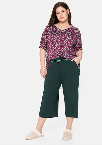 Sheego Pyjama, aus Paisley-Shirt und 3/4-Hose kaufen