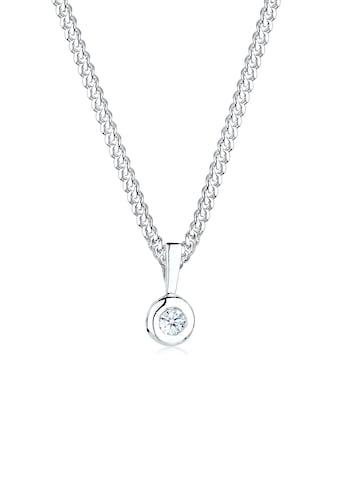 Diamore Collierkettchen »Kreis Solitär Rund Diamant (0.03 ct.) 925 Silber« kaufen