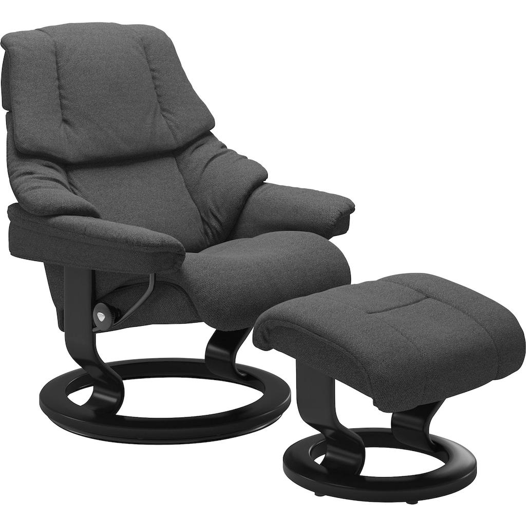 Stressless® Relaxsessel »Reno«, mit Hocker, mit Classic Base, Größe S, M & L, Gestell Schwarz