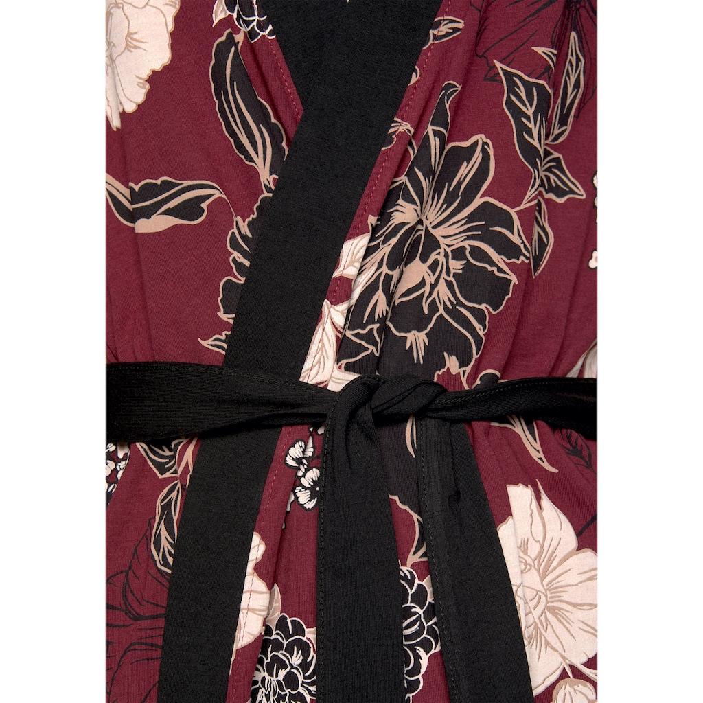 s.Oliver Kimono, mit Blumen-Dessin