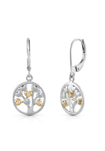 Vivance Paar Ohrhänger »925/- Sterling Silber bicolor Lebensbaum«, vergoldet (teil) kaufen