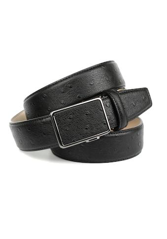 Anthoni Crown Ledergürtel, mit Straußen-Prägung kaufen
