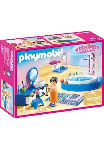 Playmobil® Konstruktions-Spielset »Badezimmer (70211), Dollhouse«, (51 St.), Made in... kaufen