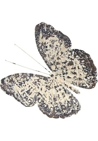 Home affaire Wanddekoobjekt »Wanddeko Vintage Butterfly«, Wanddekoration,... kaufen