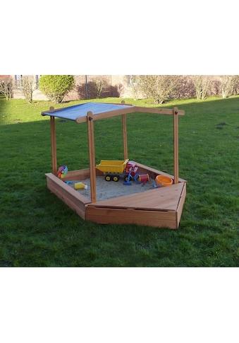 PROMADINO Sandkasten »MULTI«, BxL: 260x140 cm, mit Bugbox + Sonnendach kaufen