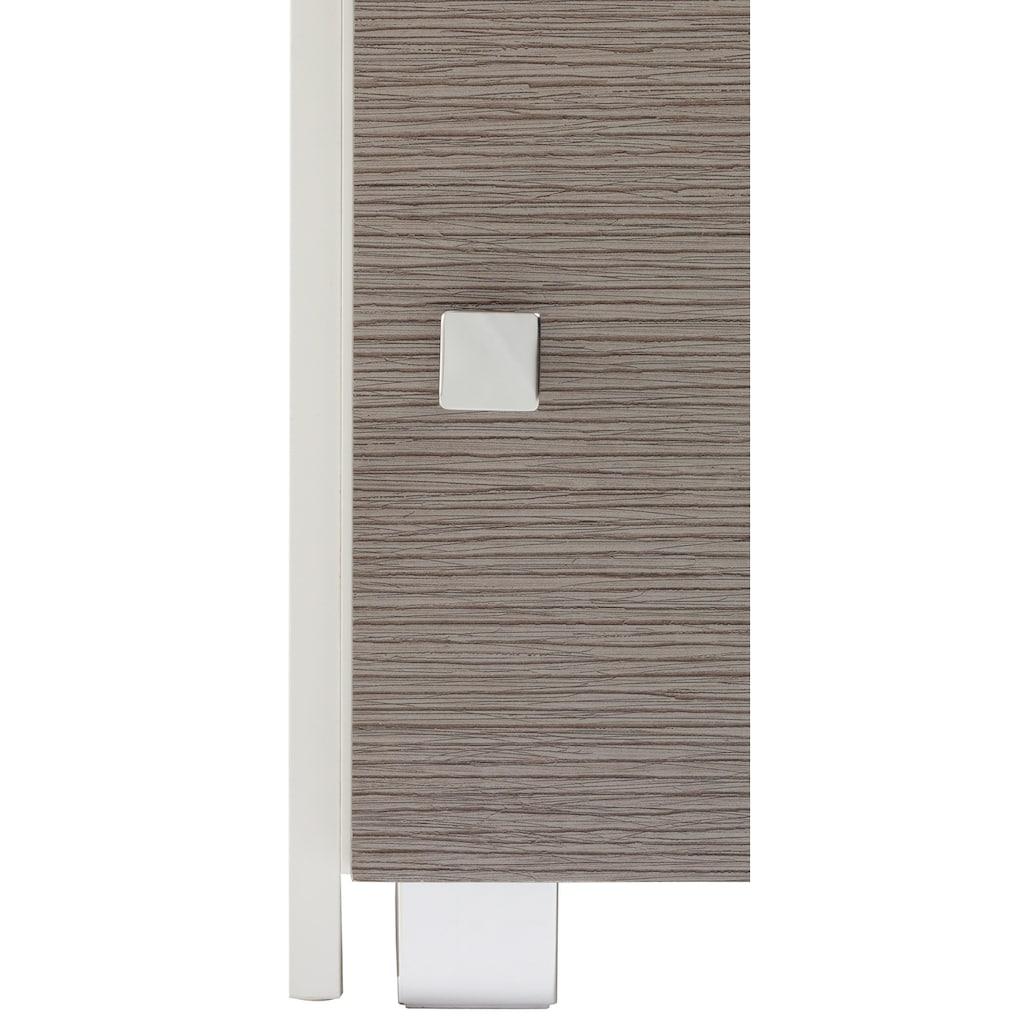 Schildmeyer Schieberegal »Bozen«, Breite 38-68 cm, Badregal, mit 3 Türen & 2 Schubladen