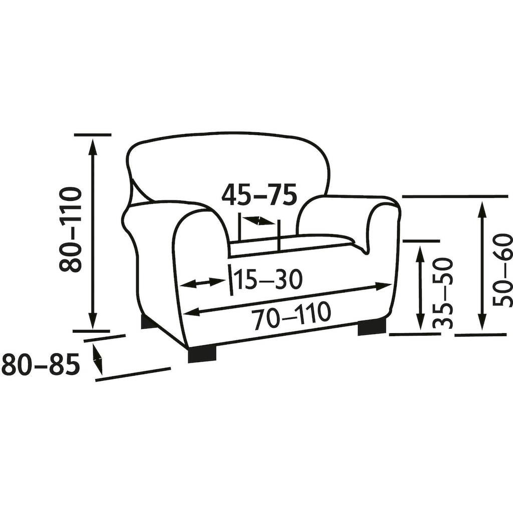 my home Sesselhusse »Martin«, Super-Stretch für optimale Passform