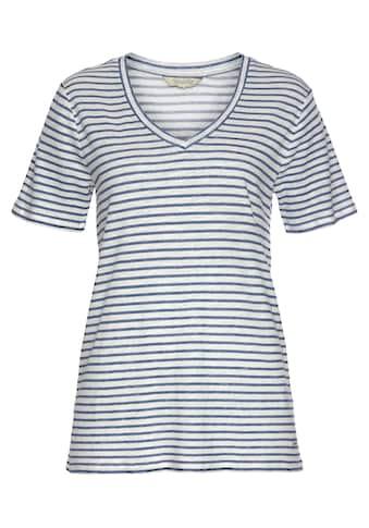 Herrlicher V-Shirt »JOYE LINEN«, in maritimer Streifen-Optik kaufen