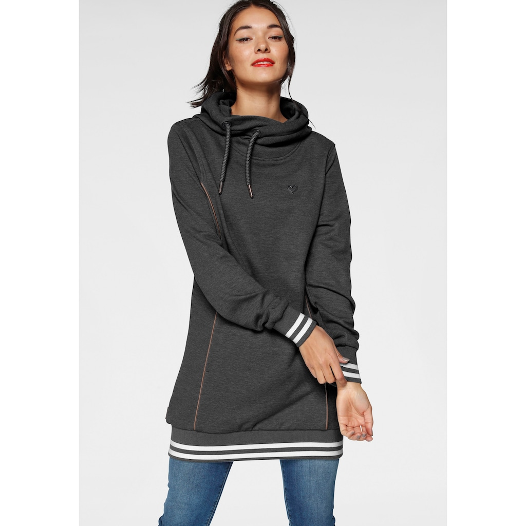 Alife & Kickin Sweatshirt »JilAK«, sportiver Hoodie mit Kontrastbündchen & Details in Lederoptik