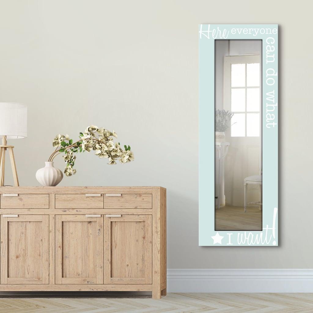 Artland Wandspiegel »Jeder macht das, was ich möchte«, gerahmter Ganzkörperspiegel mit Motivrahmen, geeignet für kleinen, schmalen Flur, Flurspiegel, Mirror Spiegel gerahmt zum Aufhängen