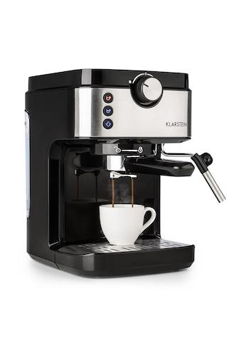 Klarstein Espressomaschine 20Bar 1575W 900ml »COF8 - BellaV Espresso« kaufen