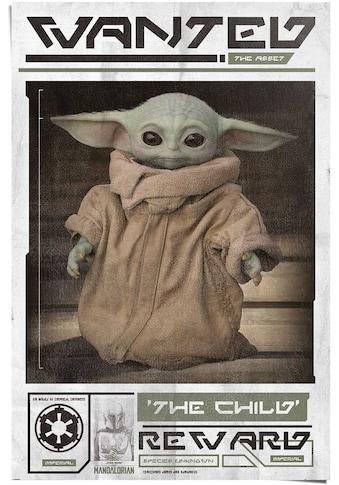 Reinders! Poster »Poster Mandalorian Baby Yoda The Child«, Serien, (1 St.) kaufen