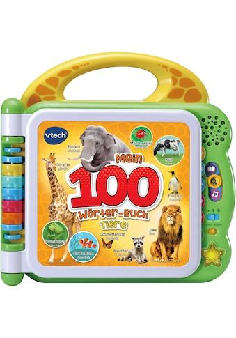 Vtech® Buch »Mein 100-Wörter-Buch: Tiere, grün«, mit Licht und Sound kaufen