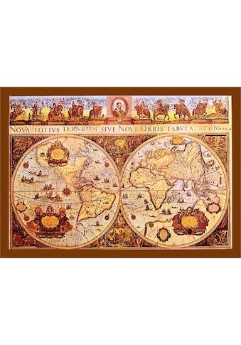 DELAVITA Bild mit Rahmen »Old Worldmap«, (1 St.) kaufen