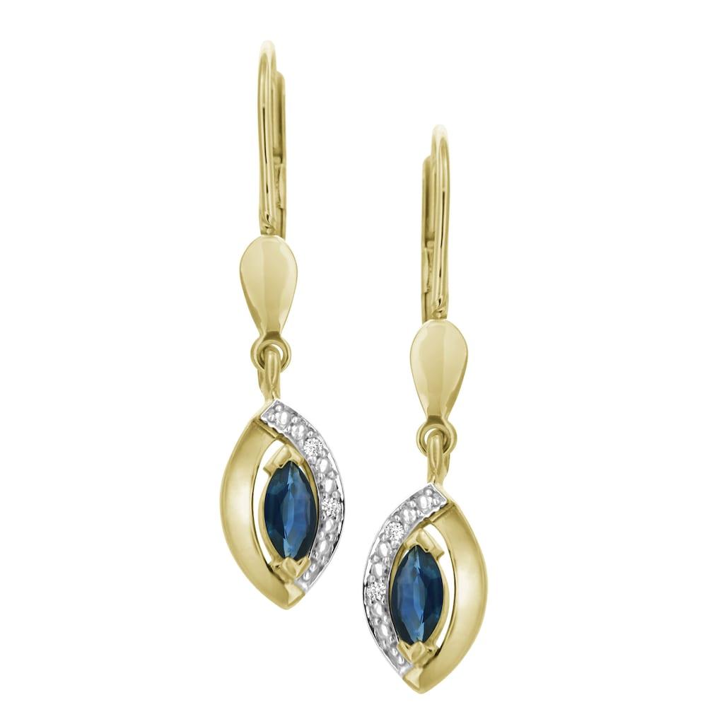 Firetti Paar Ohrhänger »elegant«, mit Saphir und Brillanten