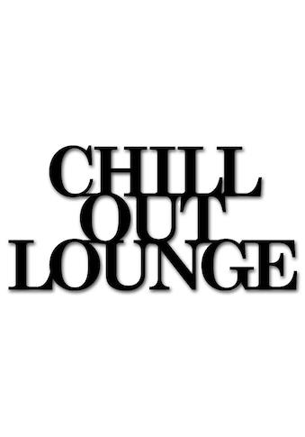 """Home affaire Wandbild »Schriftzug """"Chill out Lounge""""«, Schriftzug, Maße (B/H): 60/30 cm kaufen"""