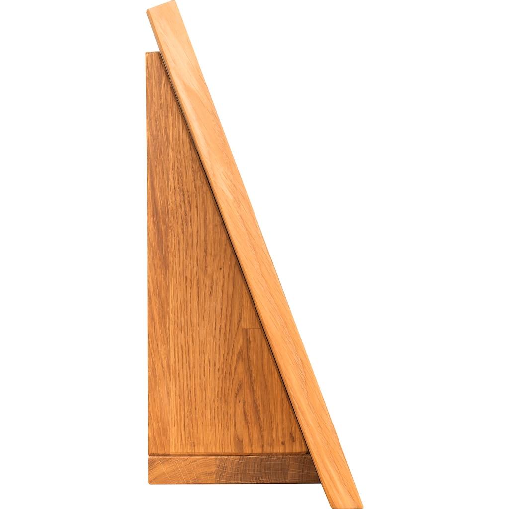 andas Schminkspiegel »Eileen«, aus schönem massivem Eichenholz, in hochwertiger Verarbeitung, Breite 57 cm