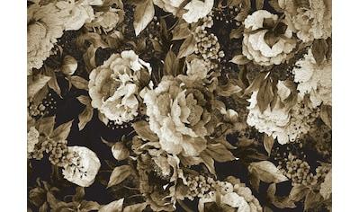 CONSALNET Vliestapete »Muster / grüne Blumen«, in verschiedenen Größen kaufen