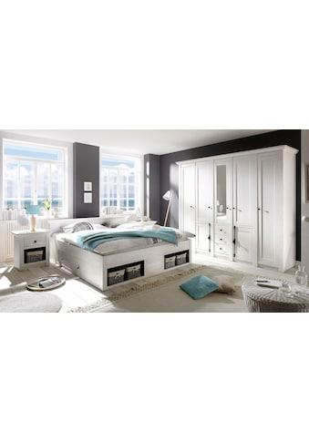 Home affaire Schlafzimmer-Set »California«, (Set, 4 St.), groß: Bett 180 cm, 2... kaufen