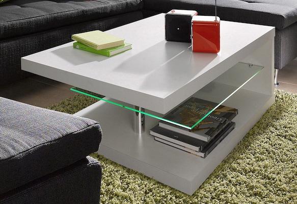 moderner Couchtisch mit Glas