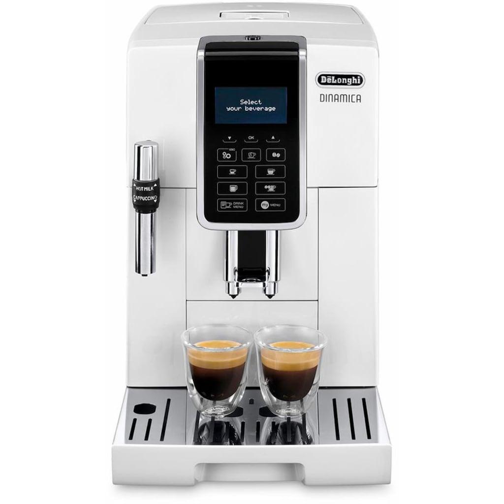 De'Longhi Kaffeevollautomat Dinamica ECAM 350.35.W, 1,8l Tank, Kegelmahlwerk