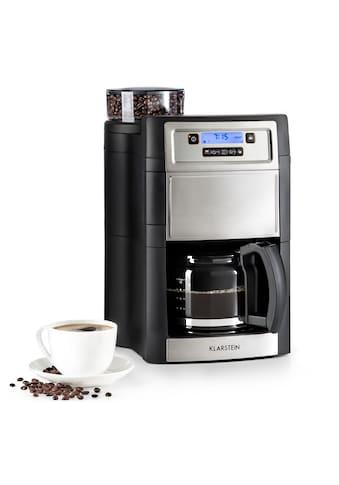 Klarstein Kaffeemaschine Mahlwerk 1,25 l silber »Aromatica II« kaufen