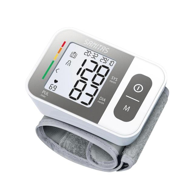 Handgelenk-Blutdruck-Messgerät mit Warnfunktion bei eventuellen Herzrhythmusstörungen