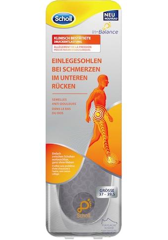 Scholl Einlegesohlen »In-Balance bei Schmerzen im unteren Rücken«, in 3Größen 37-39.5,... kaufen
