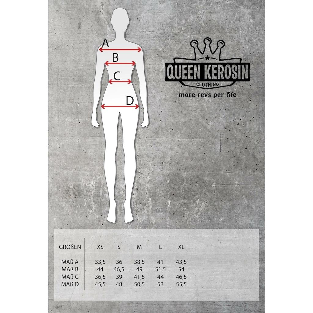 QueenKerosin Overall »Speedway Queen«, mit Bindegürtel