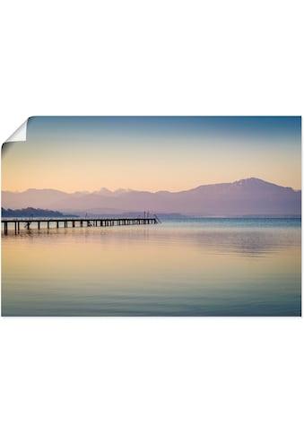 Artland Wandbild »Morgen am Chiemsee«, Seebilder, (1 St.), in vielen Größen &... kaufen
