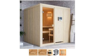 Karibu Sauna »Omari«, 9-kW-Bio-Ofen mit ext. Steuerung kaufen