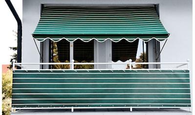 Angerer Freizeitmöbel Balkonsichtschutz, Meterware, grün/weiß, H: 75 cm kaufen