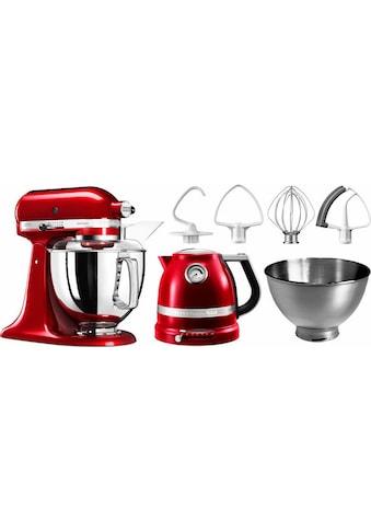KitchenAid Küchenmaschine »Artisan 5KSM175PSECA«, mit Gratis Wasserkocher, 2. Schüssel, Flexirührer kaufen