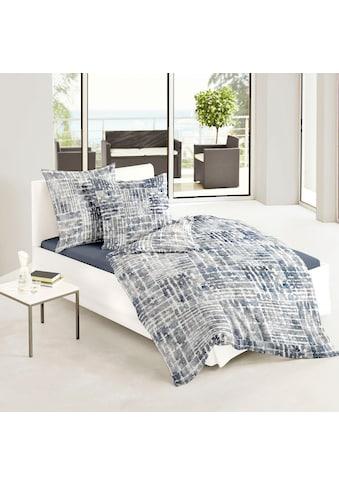 BIERBAUM Bettwäsche »Blue Watercolour«, mit graphischem Muster kaufen
