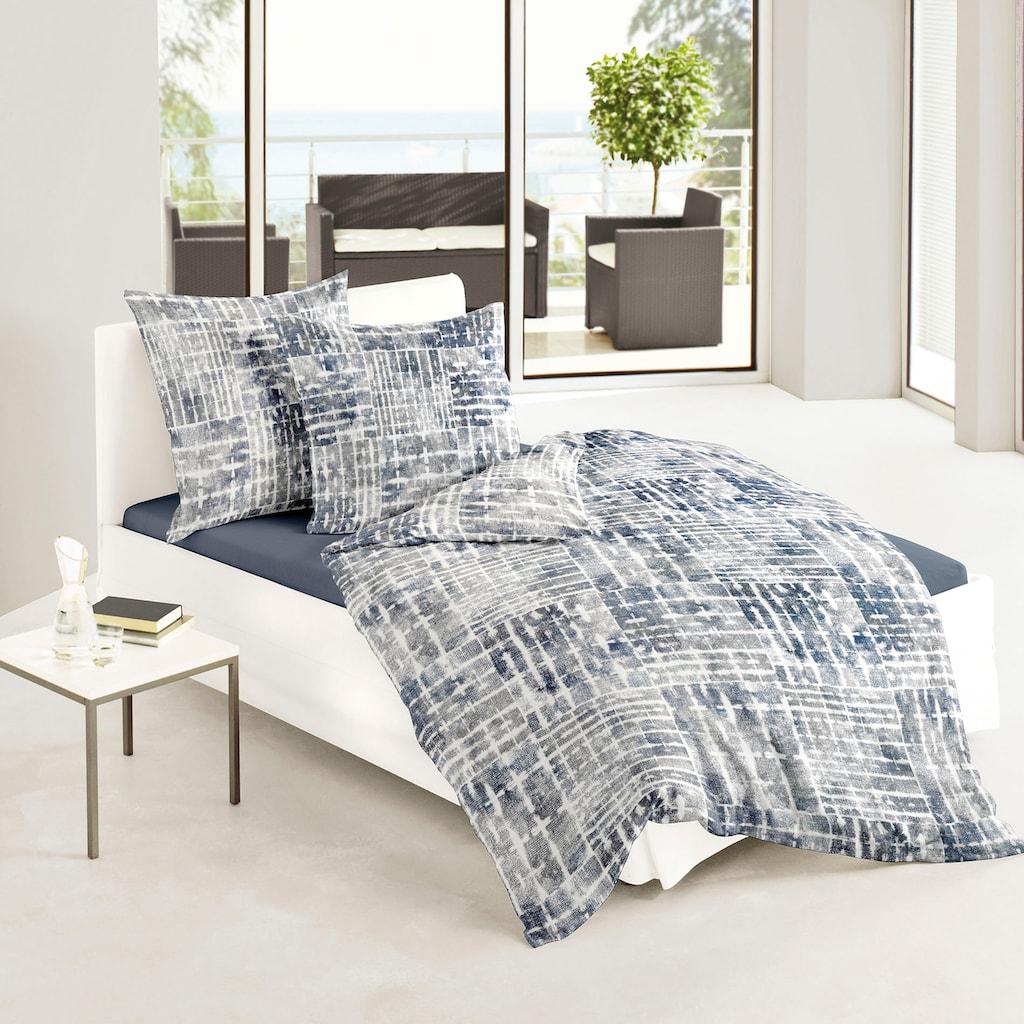BIERBAUM Bettwäsche »Blue Watercolour«, mit graphischem Muster