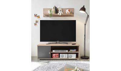 TV-Bank »Merlin«, mit Seilgriffen, im modernen Dekor Old Style hell kaufen