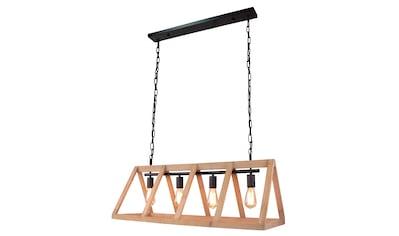 Brilliant Leuchten Matrix Wood Pendelleuchte 4flg antik holz/schwarz korund kaufen
