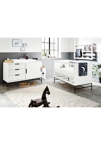 Pinolino® Babymöbel-Set »Steel«, (Spar-Set, 2 St.), extrabreit; mit Kinderbett und... kaufen