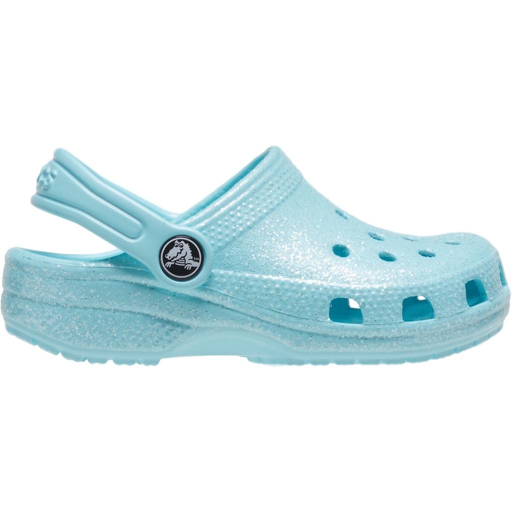 Crocs Clog »Classic Glitter Clog«, mit schwenkbarem Fersenriemen